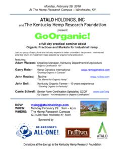 Organic Seminar Flyer