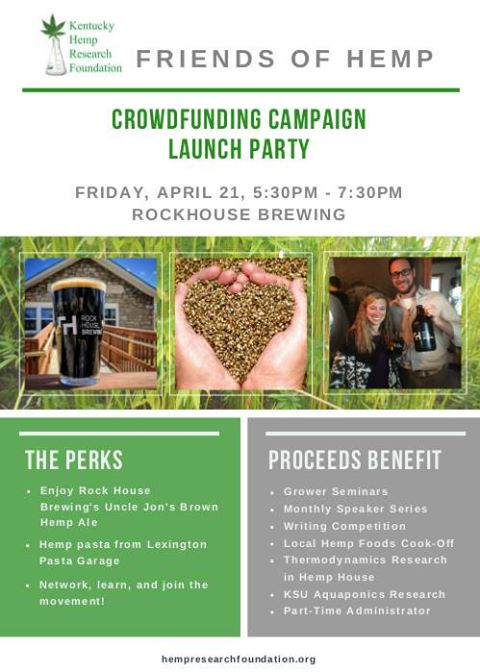 Hemp Crowdfunding Campaign Launch Party KY Hemp Research Foundation